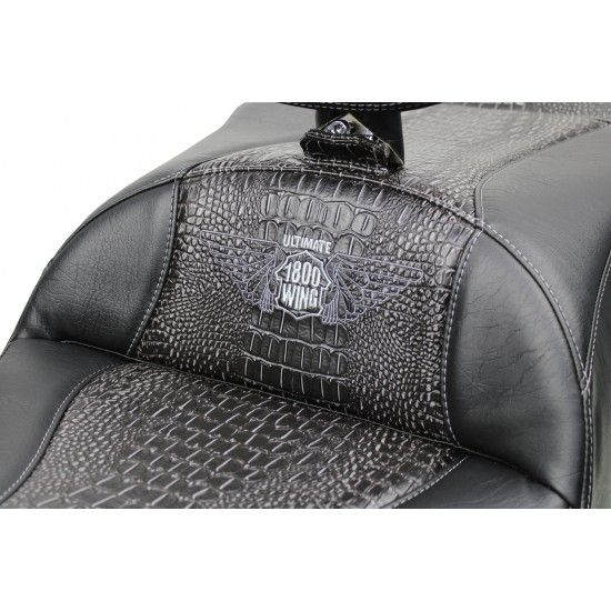 Goldwing Seat and Driver Backrest - Ebony Croc Inlay (2018 - 2020)