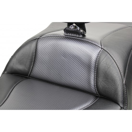Goldwing Tour Seat, Driver Backrest and Ultimate Passenger Backrest - Wave Carbon Fiber Inlay (2018 - 2020)