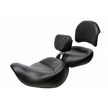 Valkyrie Interstate King Seat, Passenger Seat, Driver Backrest and Passenger Backrest Pad - Plain or Studded