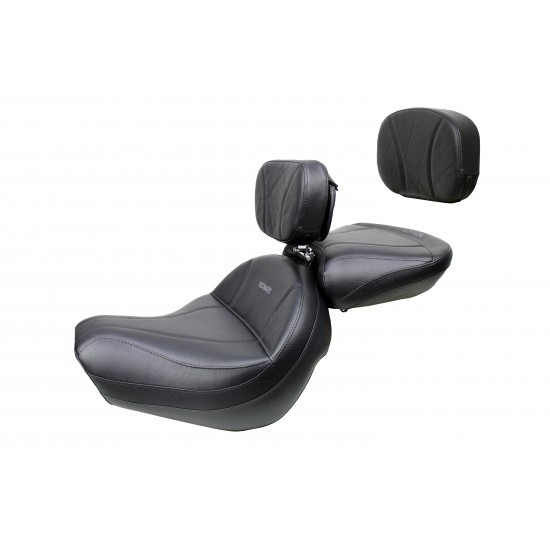 VTX 1300 R/S/T Big Boy Seat, Passenger Seat, Driver Backrest and Sissy Bar Pad - Plain or Studded