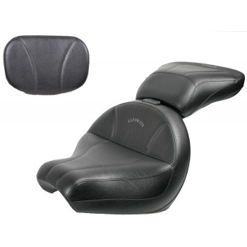 V-Star 1100 Custom Midrider Seat, Passenger Seat and Sissy Bar Pad - Plain or Studded
