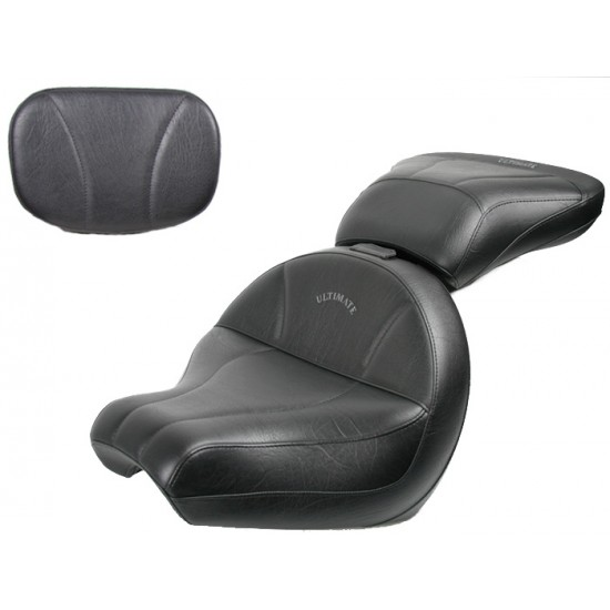 V-Star 1100 Classic Midrider Seat, Passenger Seat and Sissy Bar Pad - Plain or Studded