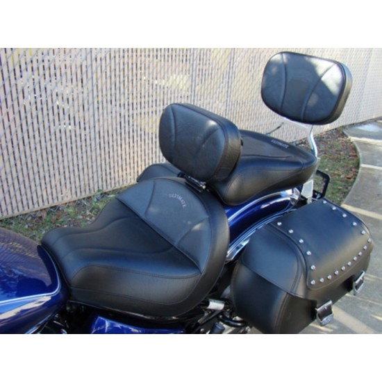V-Star 1100 Classic Midrider Seat, Passenger Seat, Driver Backrest and Sissy Bar Pad - Plain or Studded