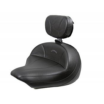 V-Star 1300 Midrider Seat and Driver Backrest - Plain or Studded