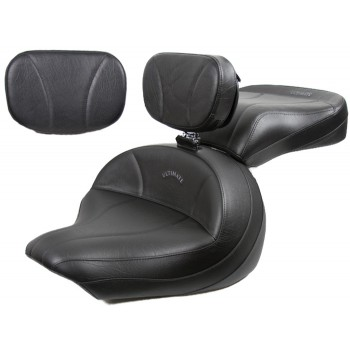 V-Star 1300 Midrider Seat, Passenger Seat, Driver Backrest and Sissy Bar Pad - Plain or Studded