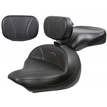 V-Star 1300 Midrider Seat, Passenger Seat, Driver Backrest and Sissy Bar Pad - Plain or Studded
