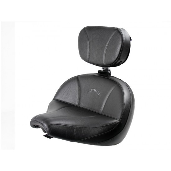 V-Star 650 Classic Lowrider Seat and Driver Backrest - Plain or Studded