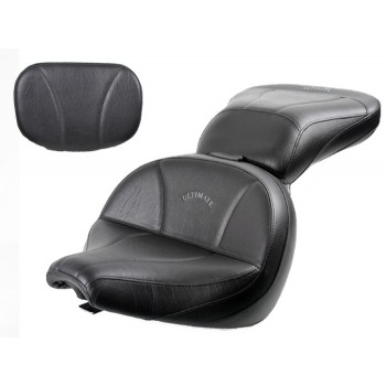 V-Star 650 Classic Lowrider Seat, Passenger Seat and Sissy Bar Pad - Plain or Studded