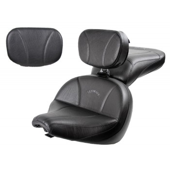 V-Star 650 Classic Lowrider Seat, Passenger Seat, Driver Backrest and Sissy Bar Pad - Plain or Studded