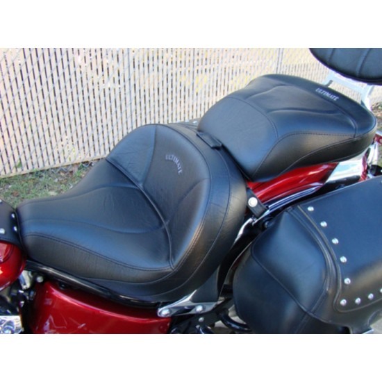V-Star 650 Classic Lowrider Seat and Passenger Seat - Plain or Studded