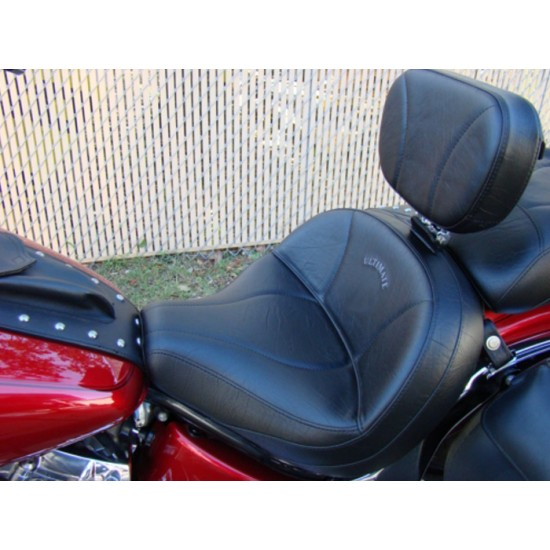 V-Star 650 Classic Driver Backrest - Plain or Studded