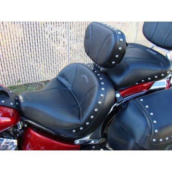 V-Star 650 Classic Lowrider Seat, Passenger Seat and Driver Backrest - Plain or Studded