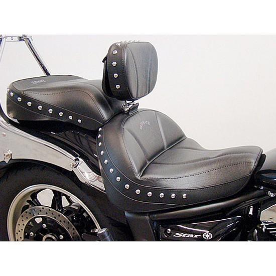 V-Star 950 Midrider Seat, Passenger Seat and Driver Backrest - Plain or Studded