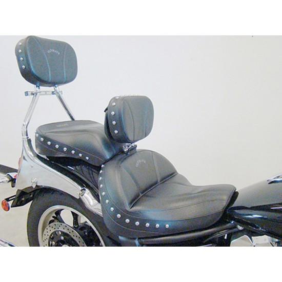 V-Star 950 Midrider Seat, Passenger Seat, Driver Backrest and Sissy Bar Pad - Plain or Studded