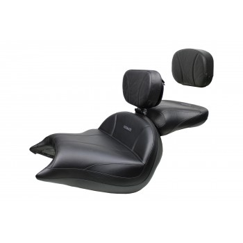 VTX 1800 N Neo Big Boy Seat, Passenger Seat, Driver Backrest and Sissy Bar Pad - Plain or Studded