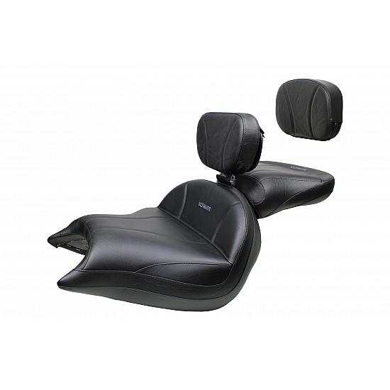 VTX 1800 N Neo Big Boy Seat, Passenger Seat, Driver Backrest and Sissy Bar Pad - Plain or Studded