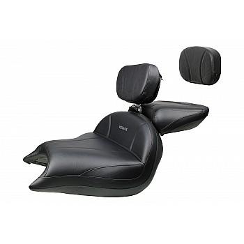 VTX 1800 R/S/T Big Boy Seat, Passenger Seat, Driver Backrest and Sissy Bar Pad - Plain or Studded