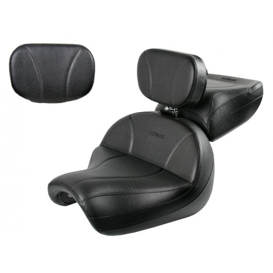 Vulcan 1500 Seat, Passenger Seat, Driver Backrest and Sissy Bar Pad - Plain or Studded
