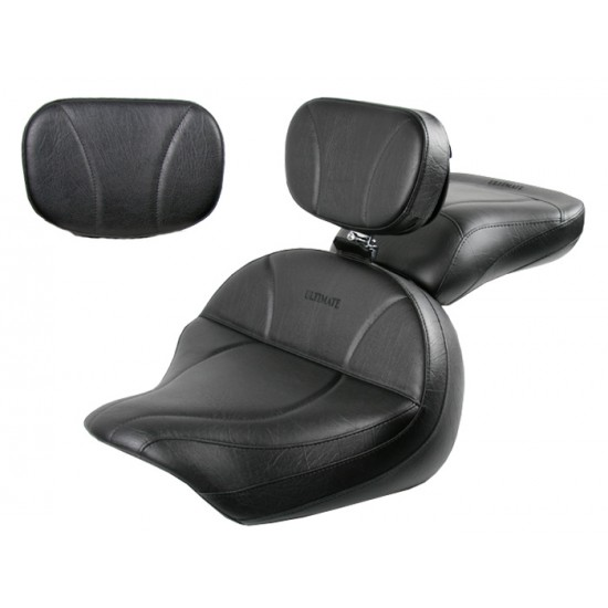 Vulcan 1600 Seat, Passenger Seat, Driver Backrest and Sissy Bar Pad - Plain or Studded