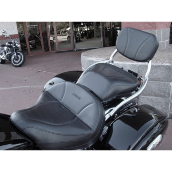 Vulcan 1600 Seat, Passenger Seat and Sissy Bar Pad - Plain or Studded