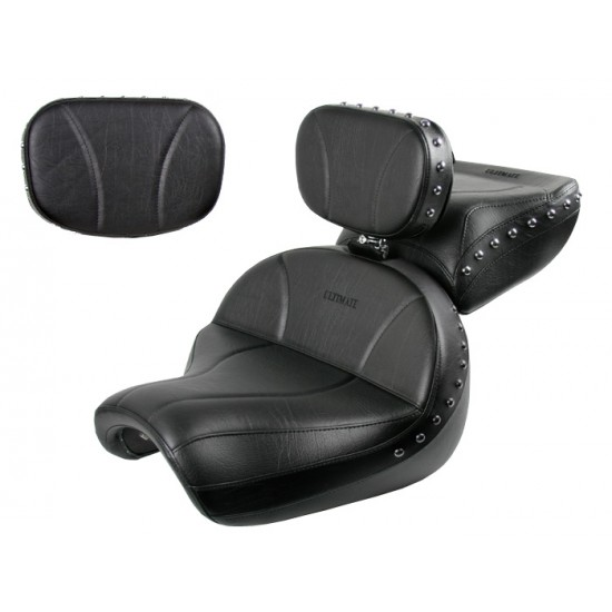 Vulcan 2000 Seat, Passenger Seat, Driver Backrest and Sissy Bar Pad - Plain or Studded