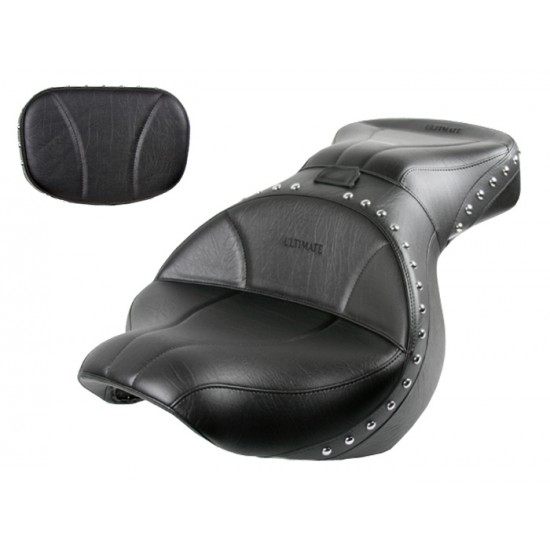 Vulcan 900 Custom Seat and Sissy Bar Pad - Plain or Studded