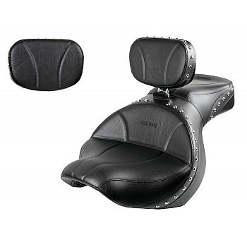 Vulcan 900 Custom Seat, Driver Backrest and Sissy Bar Pad - Plain or Studded
